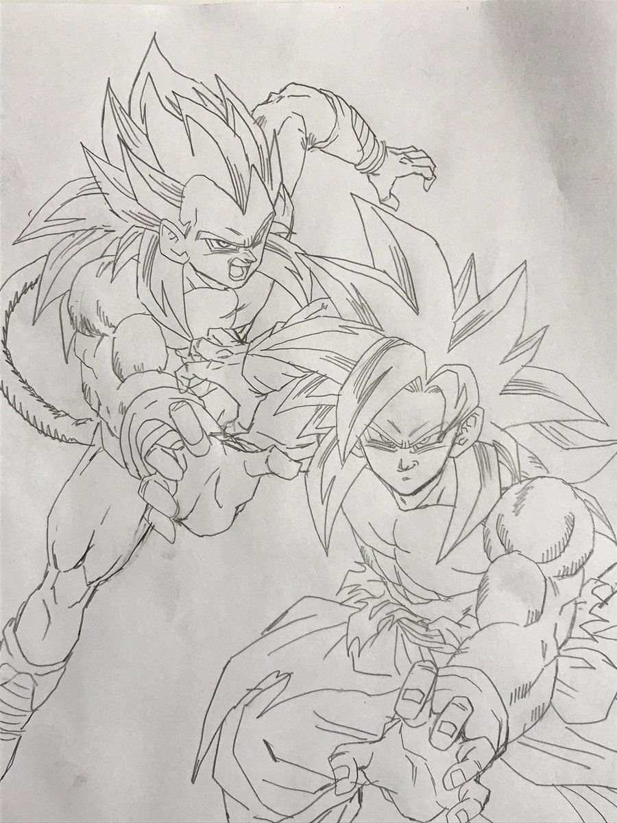 Goku & Vegeta SSJ4   yo   Pinterest   Goku, Dragon ball and Dbz