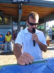 My renaissance husband, the announcer at our Pool Club's home swim meets.  He's the best!!!  5 Reasons Your Child Should Join a Summer Swim Team