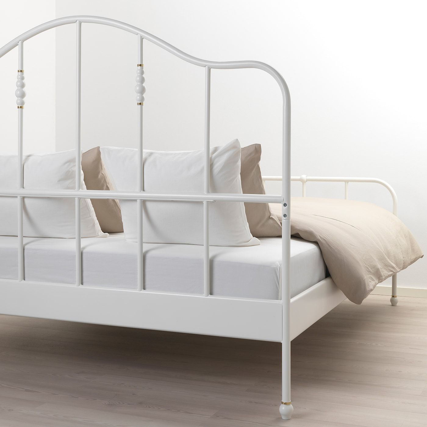 SAGSTUA Bed frame white, Luröy IKEA in 2020 Bed