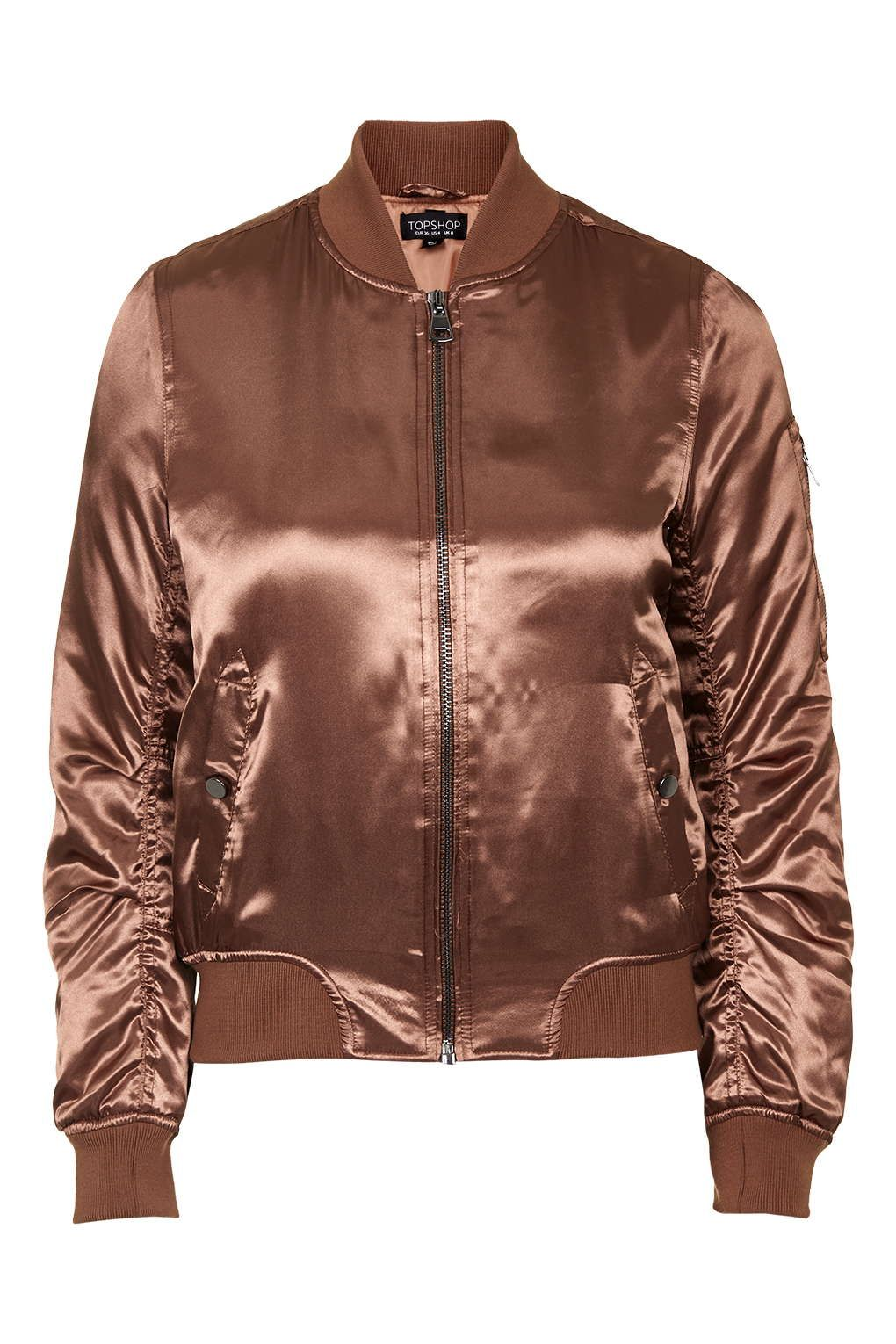 Shiny Rust MA1 Bomber in 2020 | Bomber jacket, Brown ...