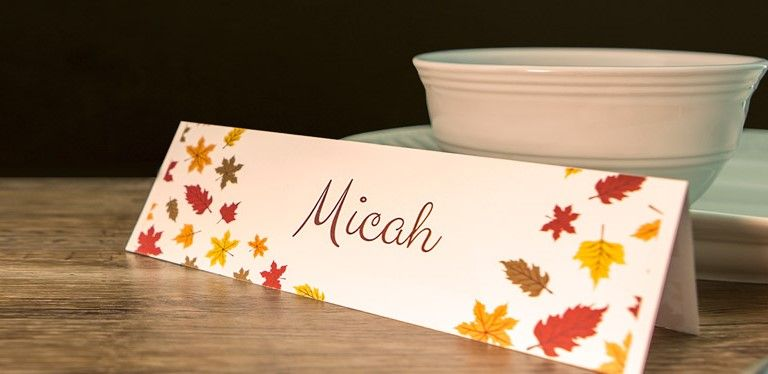 Create Tent Cards For Your Thanksgiving Table Conference Or Event Using Cardstock Templates From Onlinelabels Tent Cards Printable Cards Thanksgiving Labels