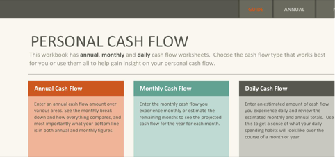 Simple Personal Cash Flow Statement  TemplatesForms