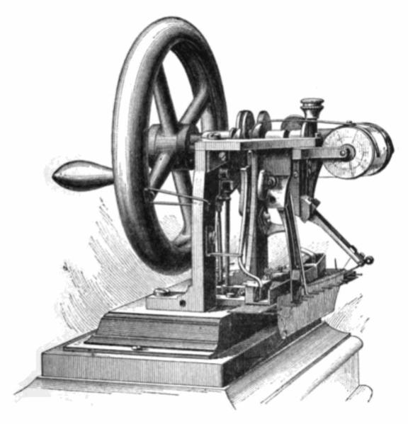 """""""Fósiles"""" de la tecnología del Siglo XIX, la Máquina de"""