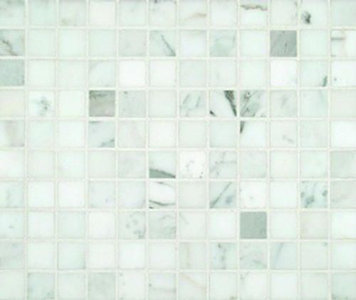 "Calacutta Honed Marble Mosaic Floor or Wall Tile 1"" x 1"""