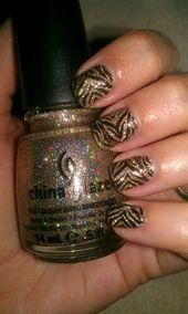 Photo of Sparkly Stripes  Nail Art Gallery by NAILS Magazine