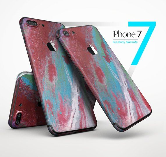 Abstract Wet Paint Red and Blue - Skin Kit for the iPhone X bd18be4d7