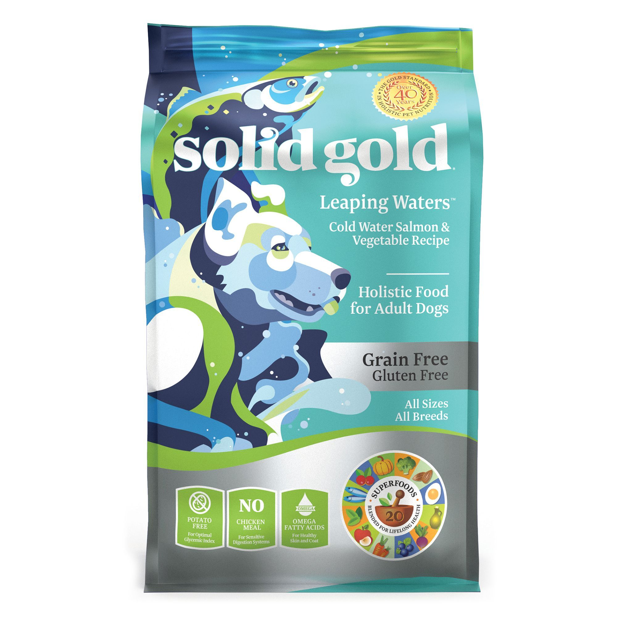 Solid Gold Leaping Waters Adult Dog Food Grain Free Gluten
