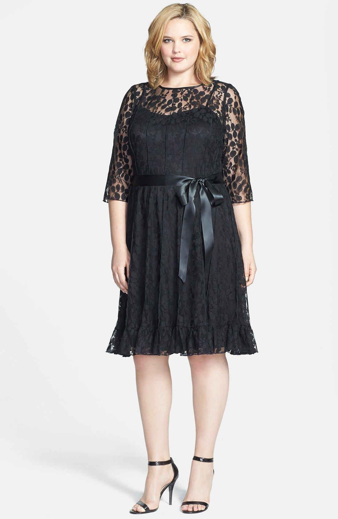 eb2227065e6c1 Jessica Howard Lace Dress (Plus Size) | Nordstrom | Dresses in 2019 ...