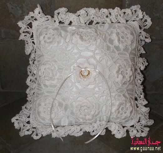 Wedding Ring Pillow Crochet ideas Virkkaus ideoita Pinterest