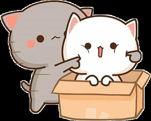 Cute Kawaii Cats Cartoon Anime Sticker By Breetou