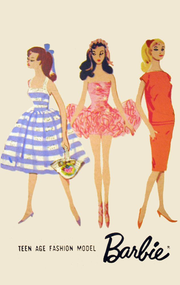 Vintage Barbie Box Illustration Luv Barbie 1959 In