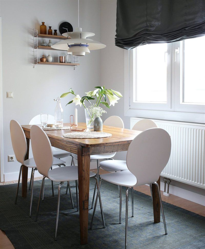 Dining Area With White And Wood Accents | Live From IKEA FAMILY