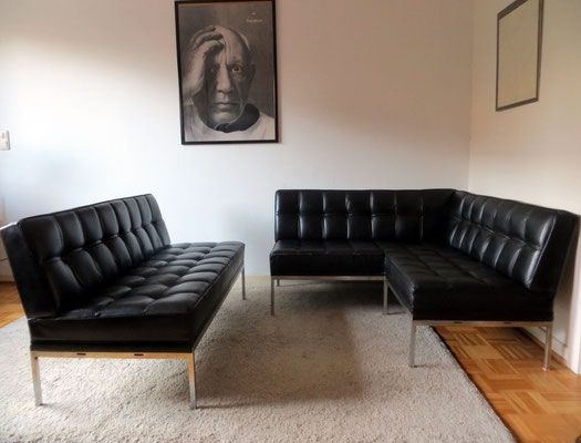 Wittmann by johannes spalt model constanze lounge leder for Sofa 70er stil