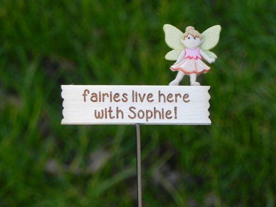 Custom Fairy Garden Sign  Miniature  by TheLittleHedgerow on Etsy
