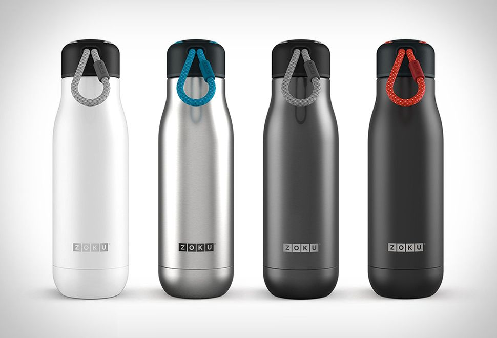 ZOKU STAINLESS STEEL WATER BOTTLE Zoku Have Recently Launched A Sleek Line  Of Vacuum Insulated Stainless