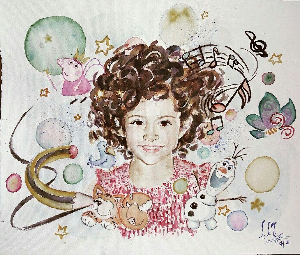 Retrato infantil (06/2016) Acuarela 40x50cms #alexandra.sanchezm