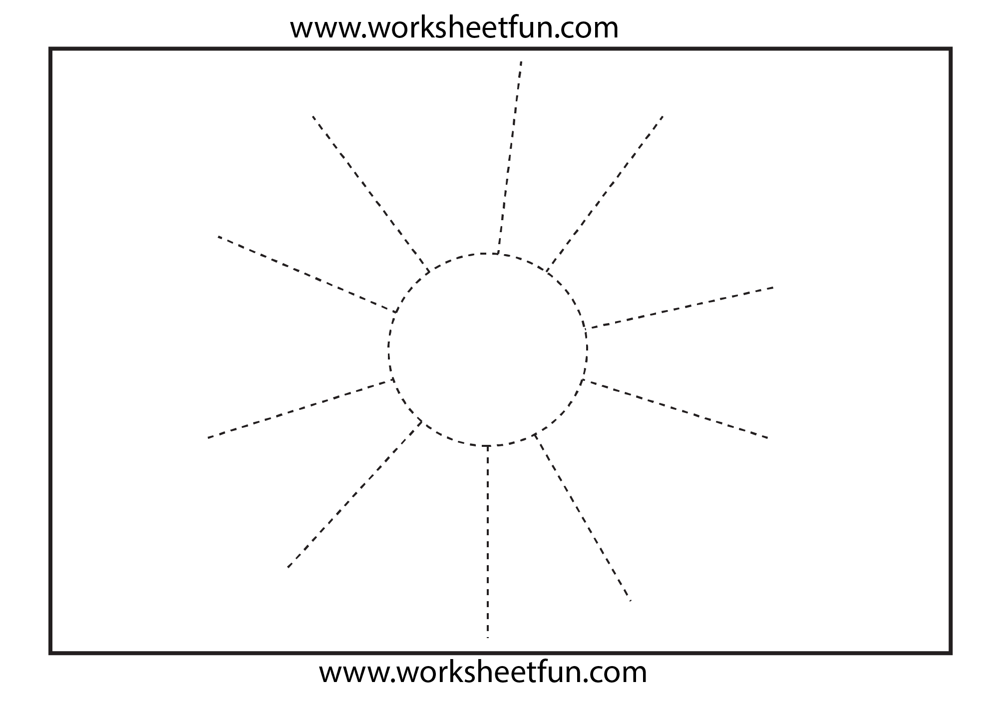 Picture Tracing Worksheet - Sun