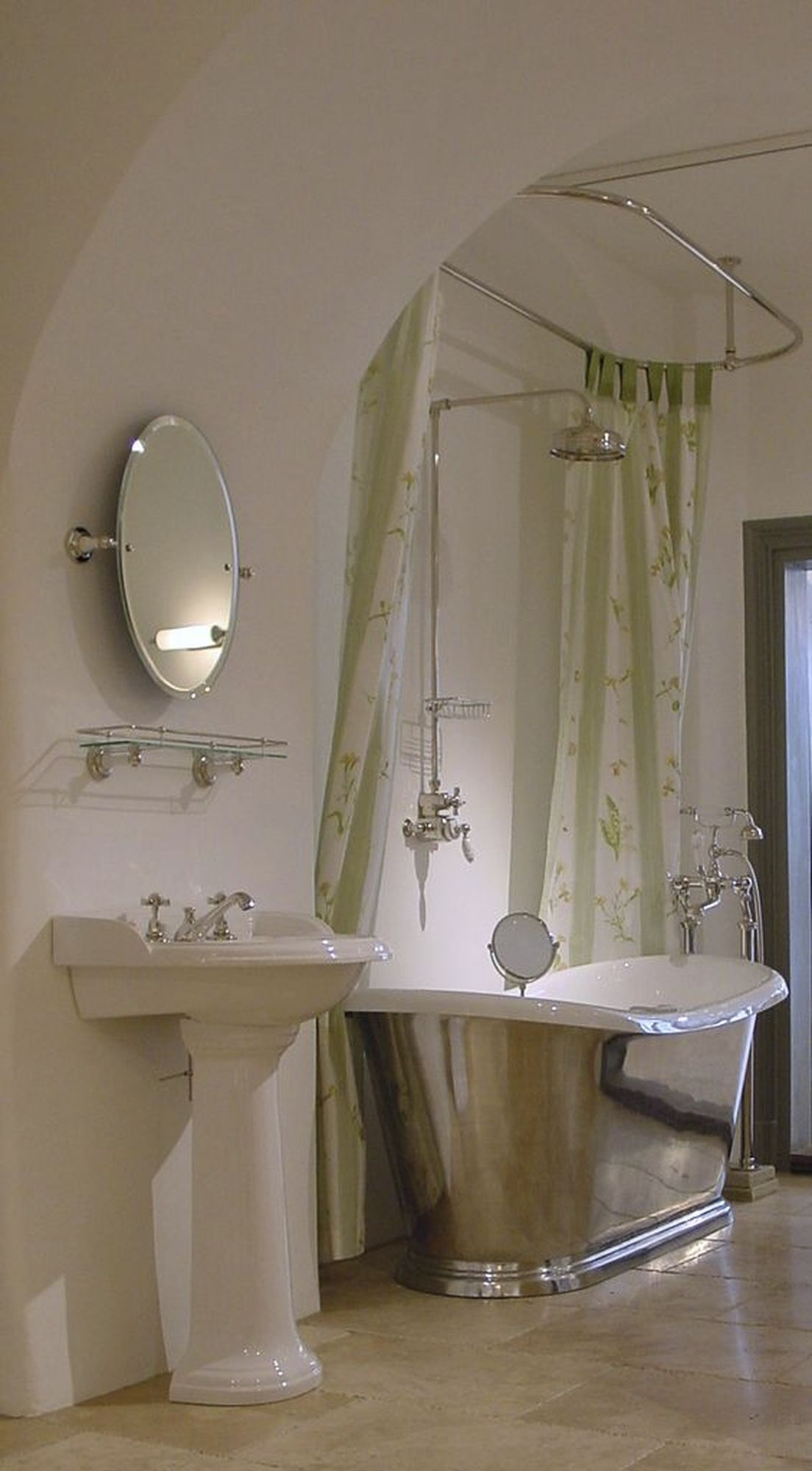 Duschvorhangstange Oval Duschvorhangstange Traditionelle Bader Dusche