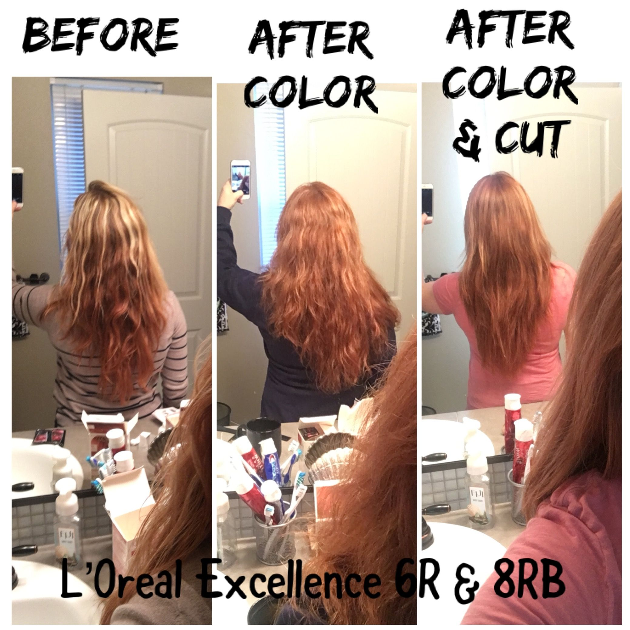 Loreal Excellence Hair Color 6r 8rb Redhair Copper Redhead