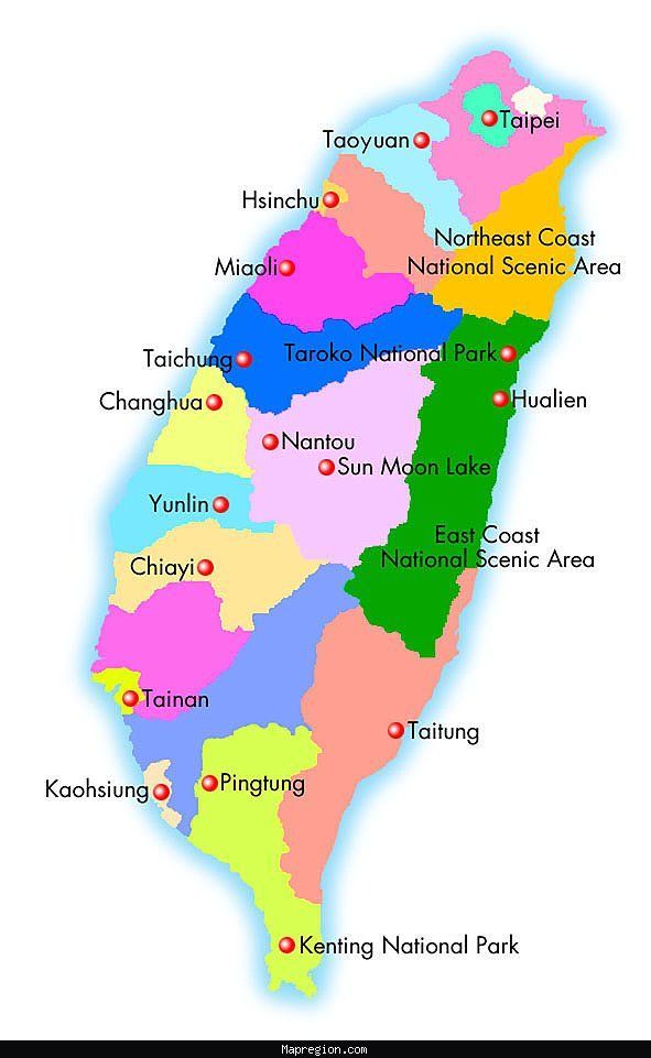 WHERE IS TAIWAN TRAVEL ATTRACTIONS MAP | Map Of Images ...