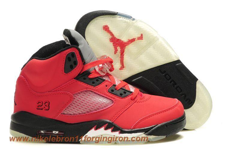 cbb257fc6d88de Low Price Kids Air Jordan 5 Red Black