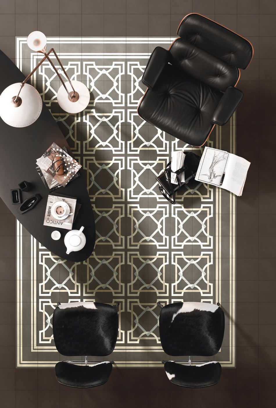 "#Workaspace Inspiration | Floors by BISAZZA Contemporary tiles ""I FREGI"""