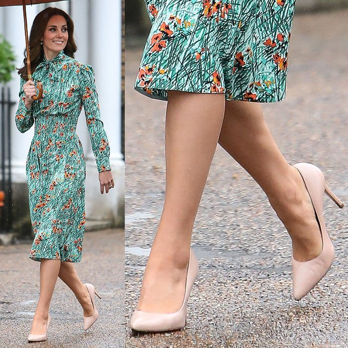 526bb41ff826 Kate Middleton wearing her favorite nude L.K. Bennett