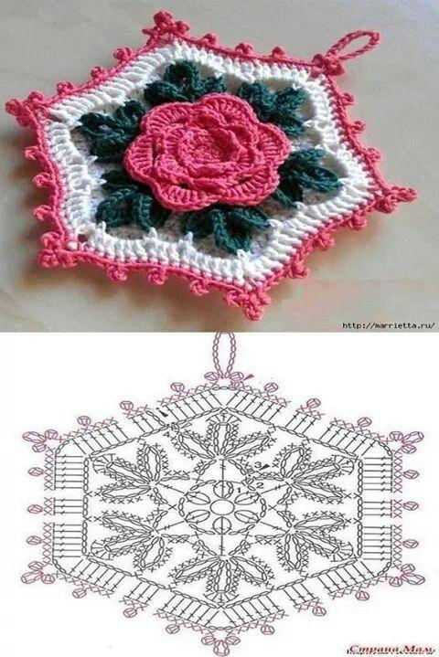 Pin de Küme. Hecho A Mano en flores crochet | Pinterest | Cuadrados ...
