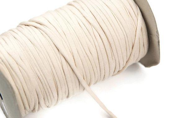Oatmeal Knit Jersey Spaghetti Strap Trim Hollow by felinusfabrics