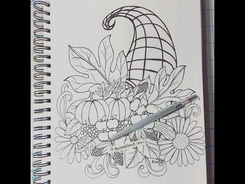 Cornucopia - Thanksgiving doodle - YouTube (8:37 ...