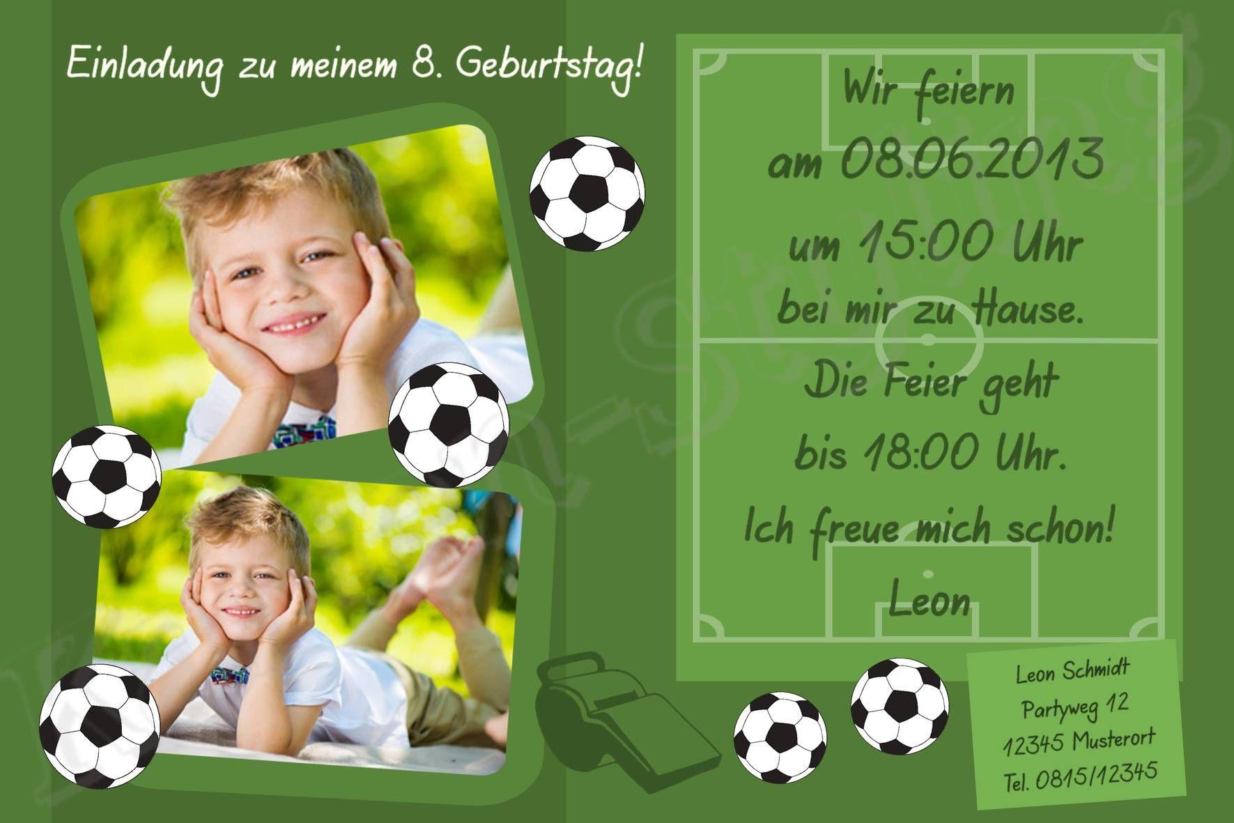 Einladungskarten Kindergeburtstag Fußball : Einladungskarten  Kindergeburtstag Fußball   Kindergeburtstag Einladung   Kindergeburtstag  Einladung
