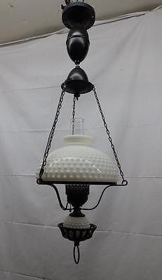 vintage hurricane ceiling light fixture chandelier milk glass