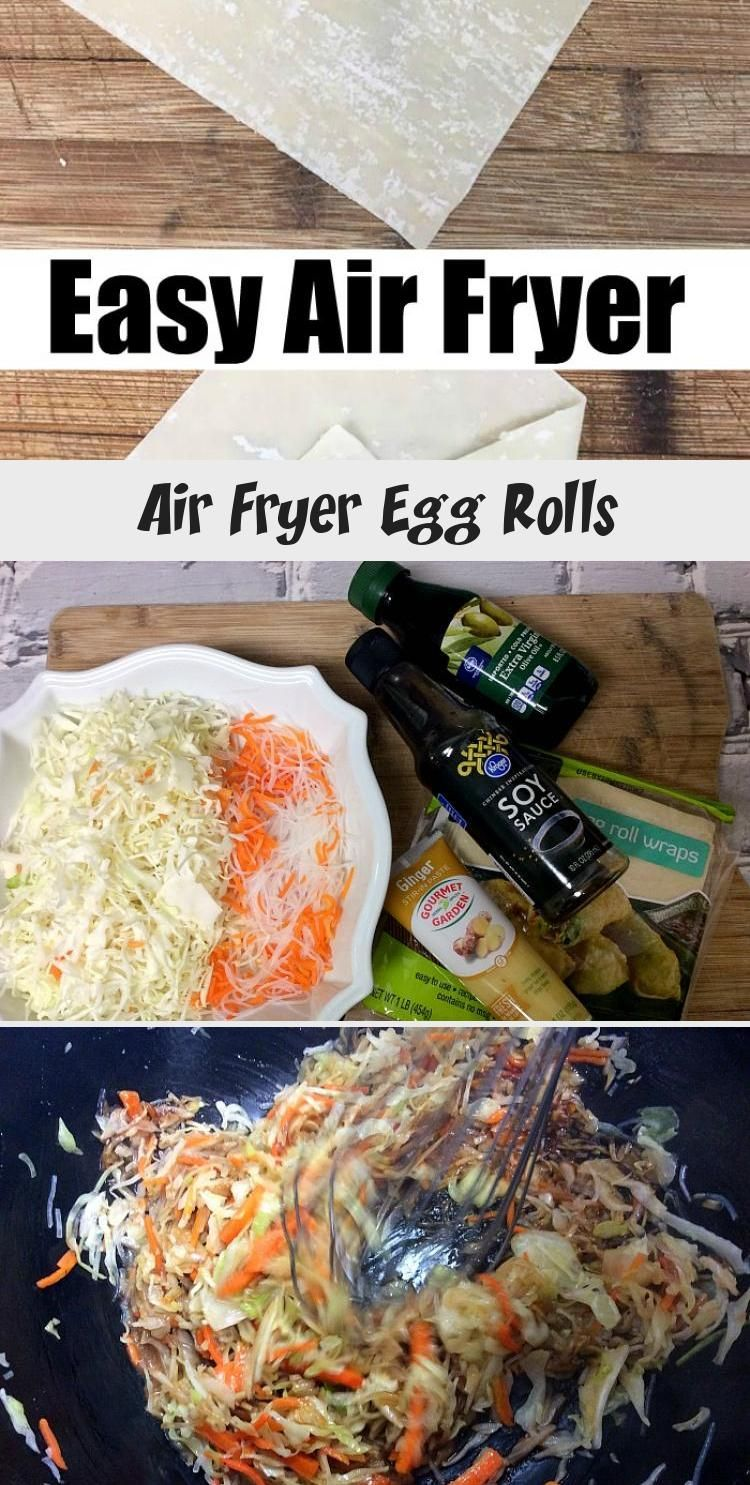 Air Fryer Egg Rolls in 2020 (With images) Egg rolls