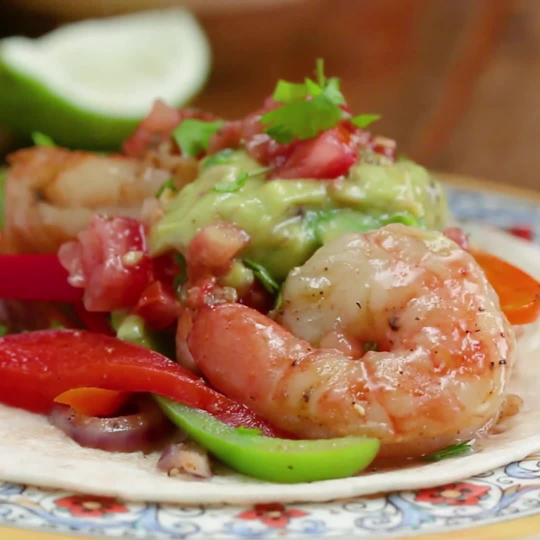 "Proper Tasty on Instagram: ""One-Pan Shrimp Fajitas"