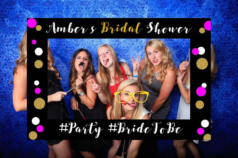 Gold Glitter Bridal Shower Photo Booth Frame, Bridal Shower Sign ...