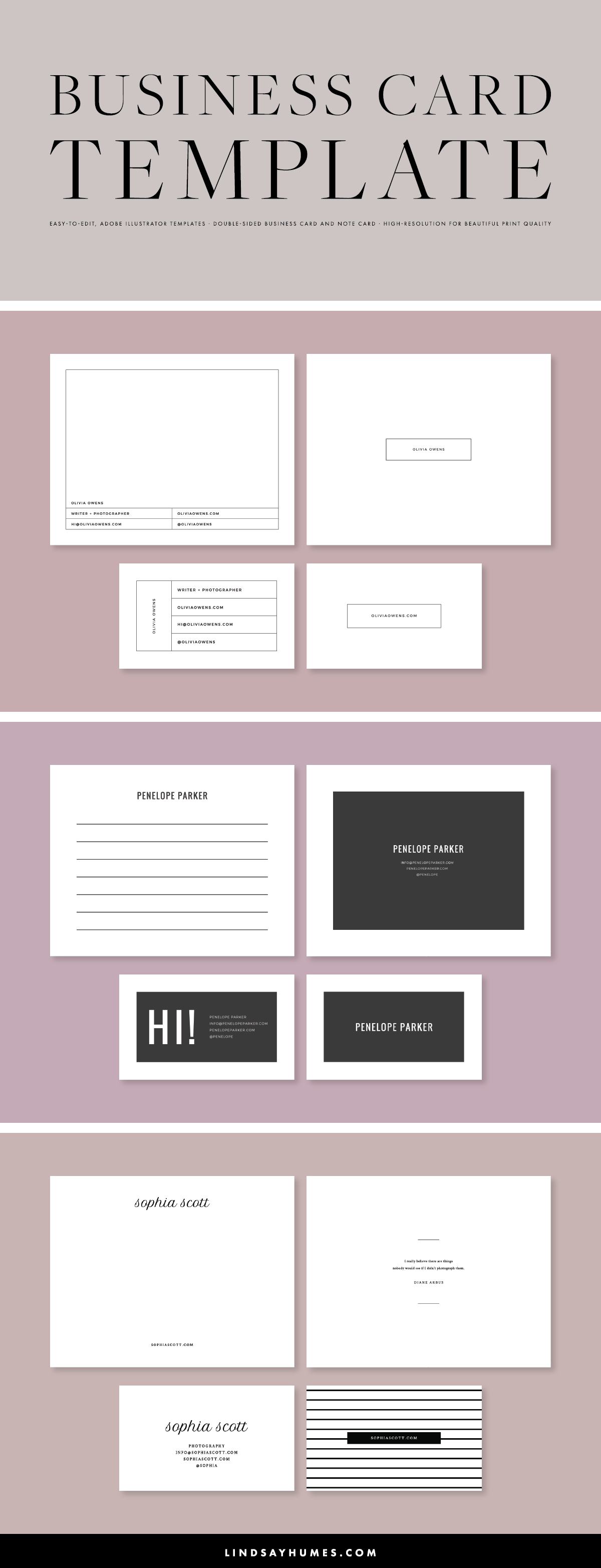 Beautiful Multi Purpose Business Card Template In Adobe Illustrator Pairs Well With Media Ki Blog Themes Wordpress Small Business Tips Business Card Template