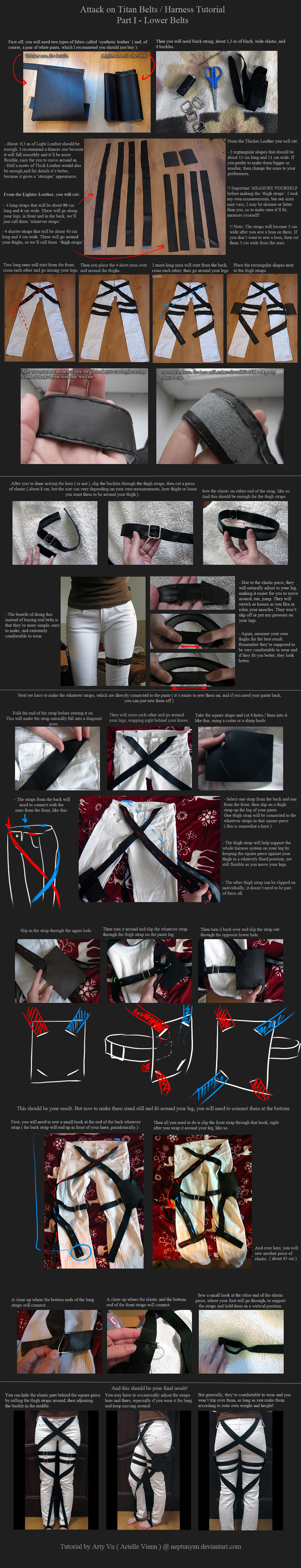 Attack on Titan Belts / Harness Tutorial - Part 1 by neptunyan on deviantART>>> ah was looking for this