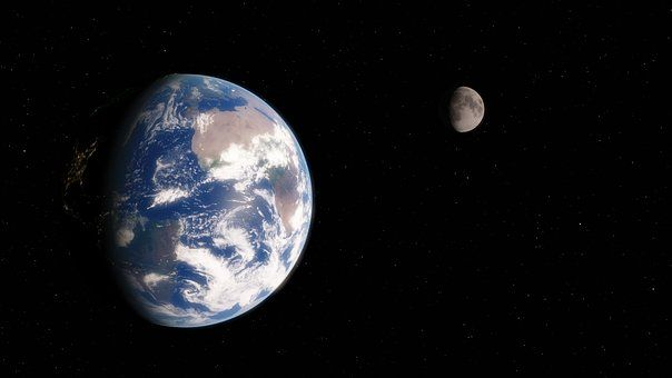 Globe, Maa, Tilaa, Tähtitiede, Moon