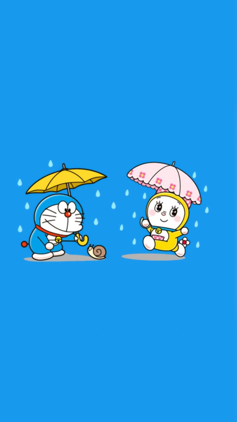 Background Cute Doraemon Wallpaper