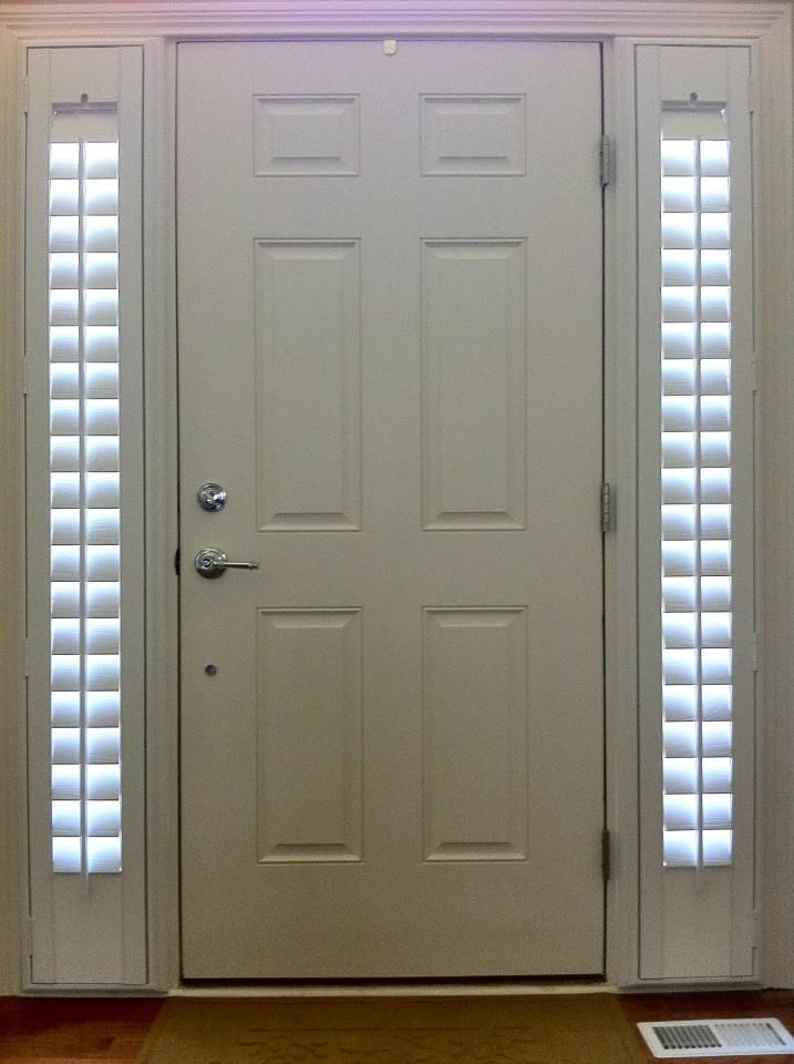 Entry Door With Two Side Lights Shutters Stay Nice And Tight To