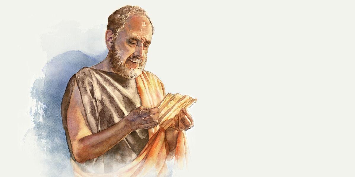 Gayo leyendo la carta del apóstol Juan