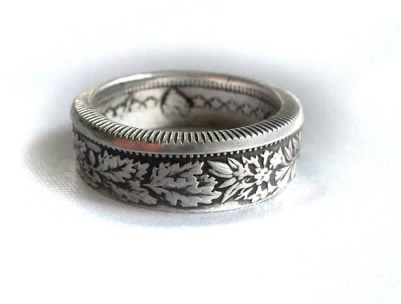 Swiss Silver Two Franc Coin Ring,Helvetia,Helvetia coin ring ... 9c8eced8054