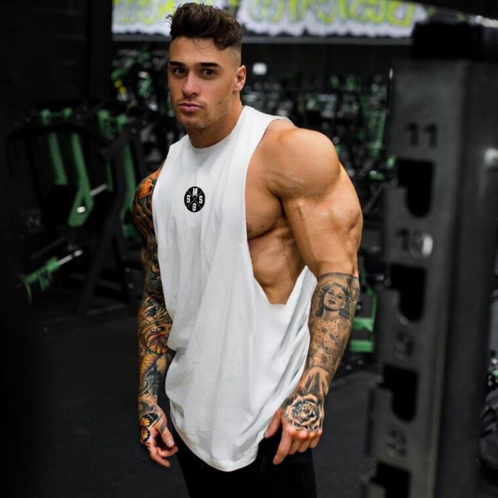 Muscle Guys Casual shirt, Loose, Fitness Tops, Sleeveless -  Muscle Guys Casual shirt, Loose, Fitnes...