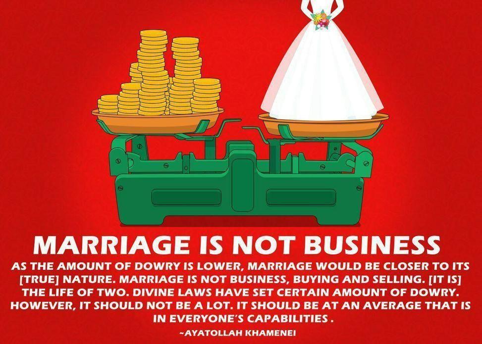 #AYATOLLAH_KHAMENEI #MARRIAGE #BUSINESS #BUYING #SELLING #AMOUNT #DOWRY #AVERAGE #HOWEVER #CAPABILITIES