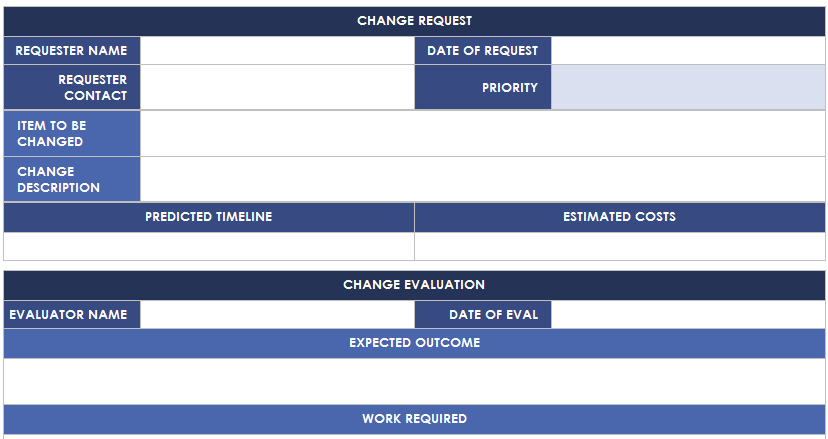 Change Management Plan Template is use to define the procedure for ...