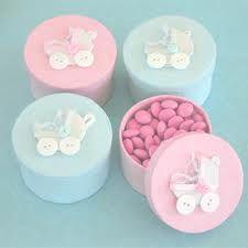 15 Como hacer dulceros para baby shower