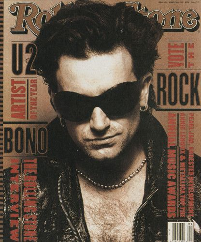 Bono on Rolling Stone, 1994...The first Rolling Stone magazine I'd ever purchased.