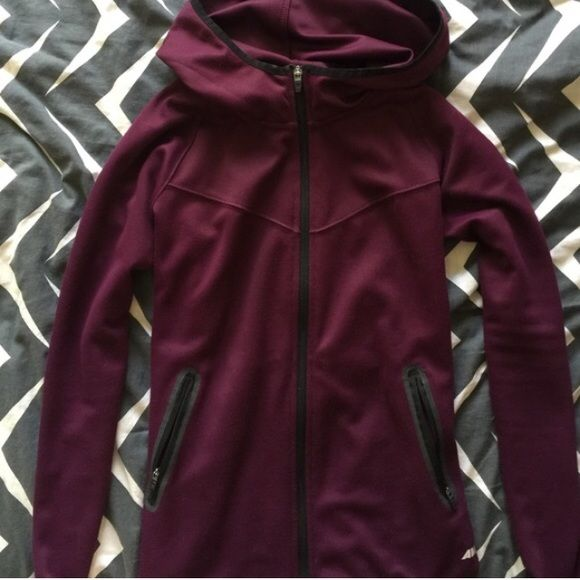Active jacket Light weight cute and sporty jacket. Size small. No stains or tears. Great condition. The color is a deep purple/burgundy/maroon. Make an offer! Avia Jackets & Coats