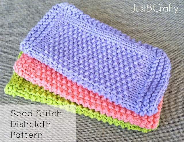 Knitting Dishcloth For Beginners : Seed stitch dishcloth pattern free by