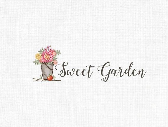 Custom Photography  Logo Home Decor logo Garden Logo Vintage Logo Floral logo